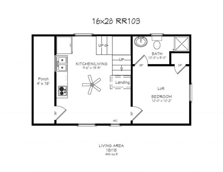 Permalink to Simple 16×24 Cabin Layout