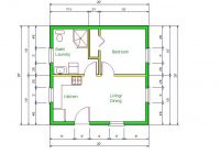 20 x 20 house design idea starla model b floor plan 20 20 X 20 Cabin Plans