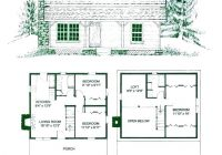 2424 cabin floor plans with loft mascaact 24×24 Cabin Plans With Loft