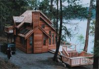 3 bedroom 2 bath cabin plan with sundeck 1235 sq ft Cabin House