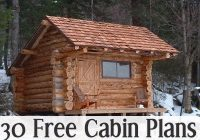 30 free cabin plans for diyers wood working small log Simple Hunting Cabin Plans