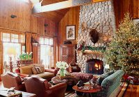 55 rustic christmas decorating ideas country christmas Log Cabin Decorating Ideas