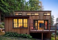 840 sq ft modern and rustic small cabin in the redwoods Small Contemporary Cabins