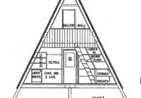 a frame cabin plan 36 feet high in 2021 a frame house A Frame Cabin Plans