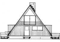 a frame house plan 2 bedrms 1 baths 1076 sq ft 137 1743 A Frame Cabin Plans