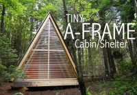 a tiny a frame cabinshelter in the woods of vermont tiny house Small A Frame Cabin