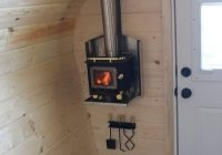 acorn micro cabin forest trek woodwork tiny house Wood Stoves In Cabins