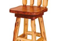 amish rustic log bar stool with swivel Bar Stools For A Log Cabin