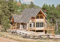 anatomy of a small and smart home Timber Frame Small Cabin/