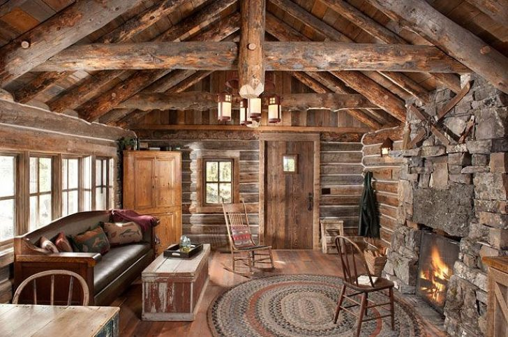 Permalink to Perfect Rustic Log Cabin Interiors  Ideas