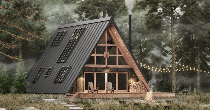 Permalink to Minimalist A Frame Cabin
