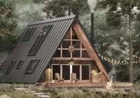ayfraym is an affordable a frame cabin in a box concept Small A Frame Cabin