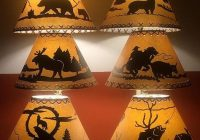 bear cowboy coyote deer fish or moose lamp shades perfect Cabin Lamp Shades