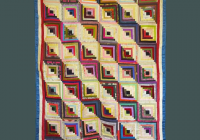 beautiful silk satin log cabin quilt c1880 Log Cabin Quilts Pictures
