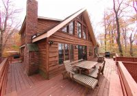 big bass lake lakefront home Lake Cabin Poconos