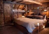cabin bedroom ideas eclectic with table lamps Cabin Bedroom Ideas