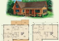 cabin floor loft with house plans dogwood ii log home and Cabin House Plans