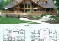 cabin house plans small modern cottage with porches rustic Cabin House Floorplans