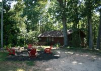 cabin in the woods on the edge of a cove of lake hartwell reed creek The Cabins Lake Hartwell