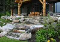 cabin in the woods rustic landscape boise mccall Cabin Landscaping Ideas