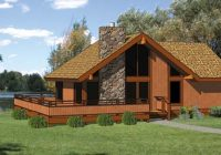 cabin style house plan 94307 with 2 bed 2 bath Cabin House Plans