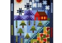 cabin the lake ten month block of the month 738283007491 Lake Cabin Quilt Pattern