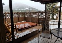 cabin9 private hot tub on deck picture of lazy r cottages Cabins In Estes Park With Hot Tubs