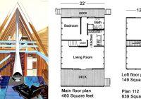 classic design for a low budget a frame project small house AFrame Cabin Floor Plans With Loft