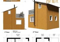 contemporary cabin plans small cabin plans tiny house Small 2 Floor Cabin