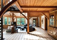 contemporary log cabin with room to roam in saugerties Modern Log Cabin