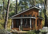 contemporary style house plan 52781 with 1 bed 1 bath Tiny Modern Cabin Designs