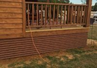 corrugated metal skirting to match roof mobile home Cabin Skirting Ideas