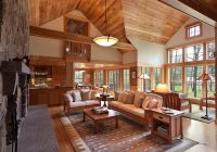 cozy cabin retreat combines warmth of wood with a bright Cabin Cottage Decor