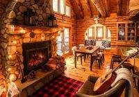 cozy winter fall guitar fireplace cabin cozycabin Cozy Cabins & Cottages