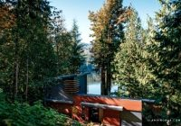 deluxe modern cabin overlooking silver lake in washington state Cabins Washington State