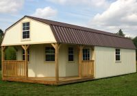 derksen portable painted lofted barn cabin with wrap around 16×40 Deluxe Lofted Barn Cabin