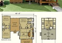 dog trot house plan in 2021 dog trot house plans house Cabin House Plans
