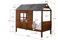 donco kids log cabin rustic walnut twin low loft bed 2103 Cottage Cabin Bed