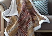 duke imports inc red tan montana cabin quilted sherpa throw Cuddly Cabin Throw