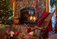 eclectic home tour santas house christmas fireplace Beautiful Christmas Cabin Interiors