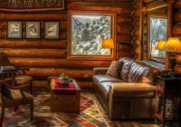 for that rustic look a log cabin living room photo Cabin Living Room Ideas