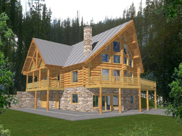 Permalink to Elegant Two Story Cabin Plans