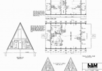 free small cabin plans AFrame Cabin Floor Plans With Loft