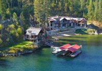 fully furnished 27m lakefront mansion is idahos most Coeur D'Alene Lake Cabins For Sale