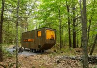 getaway tiny modern cabin rentals outside boston nyc Modern Mini Cabin