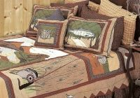 gone fishing quilt collection Lake Cabin Sheets