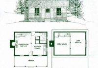 gorgeous small log cabin floor plans with loft free small Cottage Cabin Blueprints