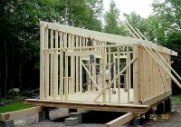 have you considered a 14×24 with a shed or low sloped roof Slant Roof Cabin With Loft