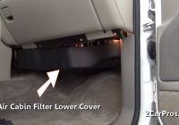 how to change a cabin air filter in under 15 minutes Cabin Air Filter Replacement
