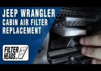 how to replace cabin air filter 2014 jeep wrangler Jeep Wrangler Cabin Air Filter